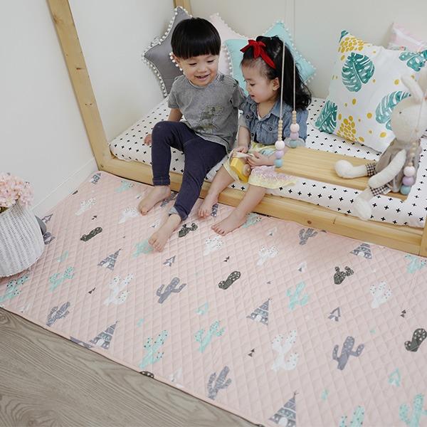 北歐清新圖案純棉走道墊 床邊墊 窗台墊(防滑) 遊戲地墊,兒童房佈置,兒童地墊,房間地墊,防滑地墊