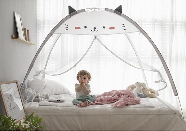 韓國可愛貓咪速開蚊帳/防蚊帳篷 防蚊帳篷,速開帳篷,兒童防蚊,兒童帳篷