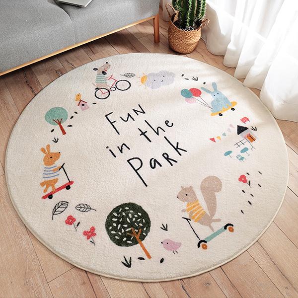 北歐童趣軟Q羊羔絨大尺寸120cm地墊 厚實地墊,羊絨地墊,遊戲地墊,兒童房佈置,爬行地墊,兒童地墊,房間地墊,防滑地墊