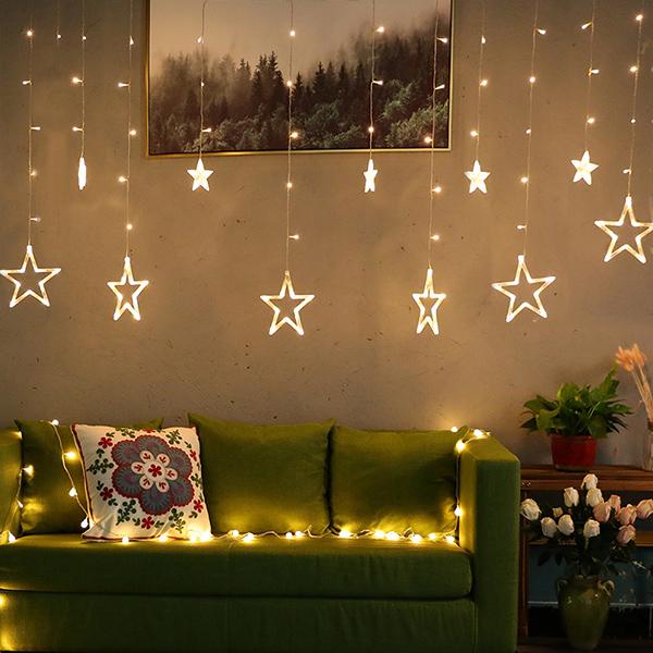浪漫氛圍大小星星LED窗邊燈串/造型燈串 instagram,ig拍照佈景燈串,婚禮佈置燈串,生日派對裝飾燈串,兒童房佈置燈串,窗簾燈串,窗邊燈串,牆邊燈串