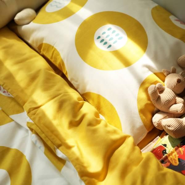保暖加厚 純棉磨毛嬰兒床單被套枕套三件組