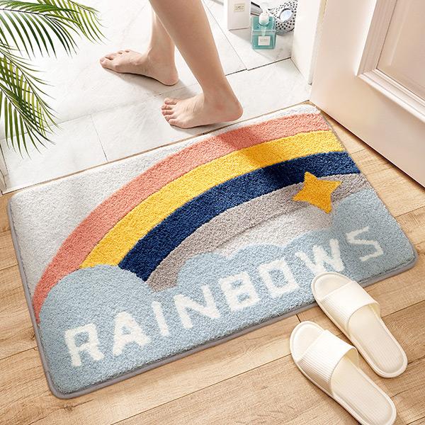 莫蘭迪RAINBOW彩虹浴室門口防滑地墊 防滑地墊,吸水地墊,浴室地墊