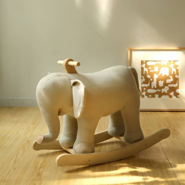 北歐風大象搖搖馬 木馬