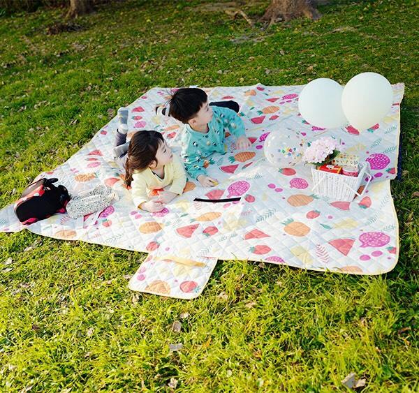 甜蜜時光可機洗超大尺寸200x200cm手提野餐墊 野餐墊,帳篷地墊,沙灘墊,防潮野餐地墊