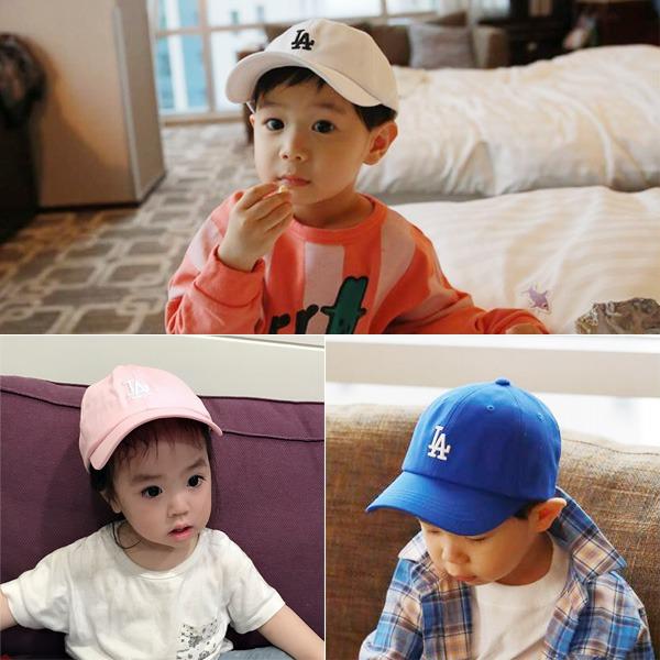 韓製純棉時髦LA棒球帽/兒童帽  正韓 韓國進口 韓製 純棉幼兒帽 男童 女童 棒球帽 遮陽帽 造型帽