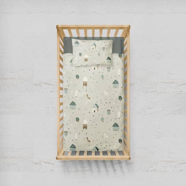 兒童款 保暖純棉加厚 磨毛童趣床單被套枕套三件組