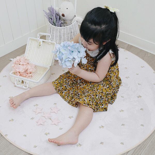 歐美優雅小橄欖大尺寸110cm圓形地墊 歐美地墊,厚實地墊,圓形地墊,兒童房佈置,兒童地墊,房間地墊,防滑地墊