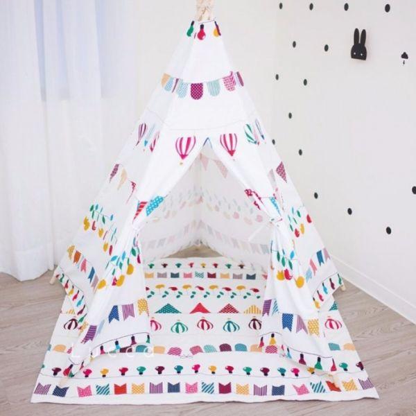 北歐兒童帳篷加購地墊 instagram,ig拍照佈景,遊戲地墊,兒童房佈置,帳篷地墊