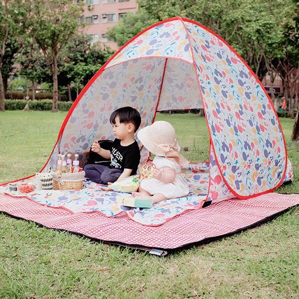 人氣POP UP米奇圖案防曬野餐帳篷/沙灘帳篷 POP UP,野餐帳篷,防曬帳篷,速開帳篷,自動秒開帳篷,沙灘帳篷