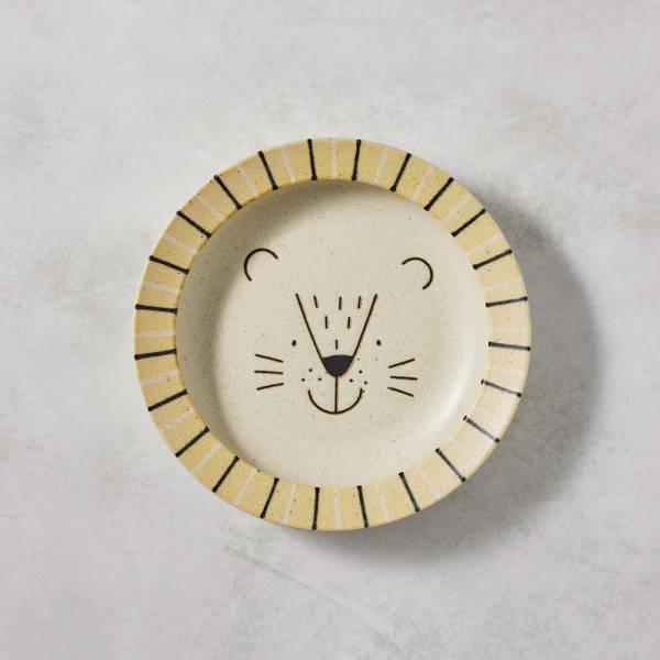 日本AWASAKA美濃燒- 萌萌毛獅深盤 (22.5cm) 日本,盤,餐具組