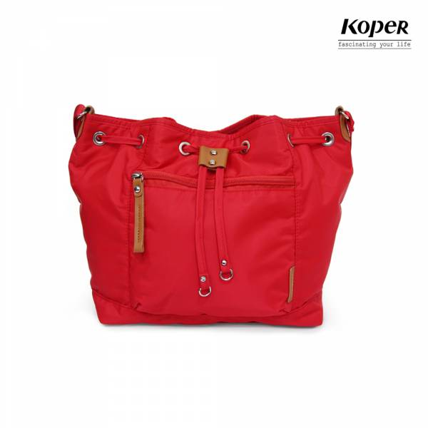 KOPER  輕甜焦糖系列-Brisk束口斜肩包-甜蜜紅 斜背包、肩背包、台灣設計製造