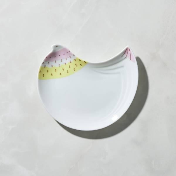 日本晴九谷燒 - 福太太淺盤 - 草莓鳥 ★ 全部日本原裝精緻禮盒,送禮適宜