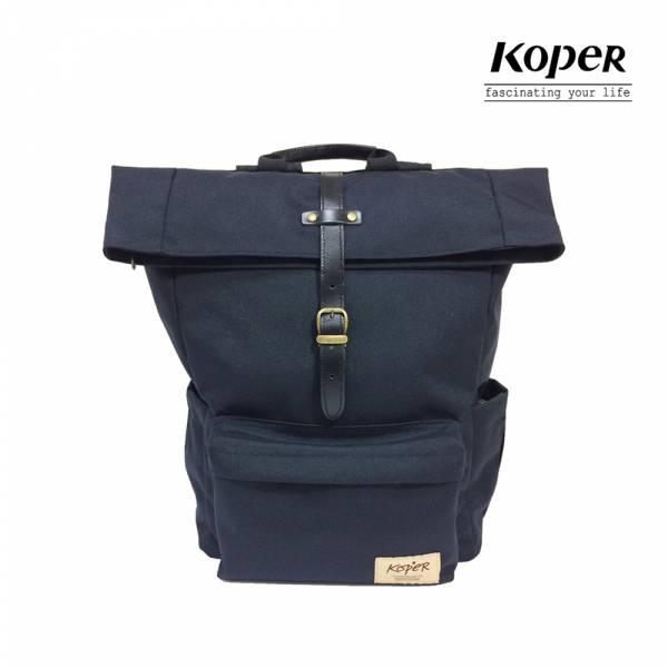 KOPER  心實袋系列 - 單扣休閒後背包-深邃黑 後背包、台灣設計製造