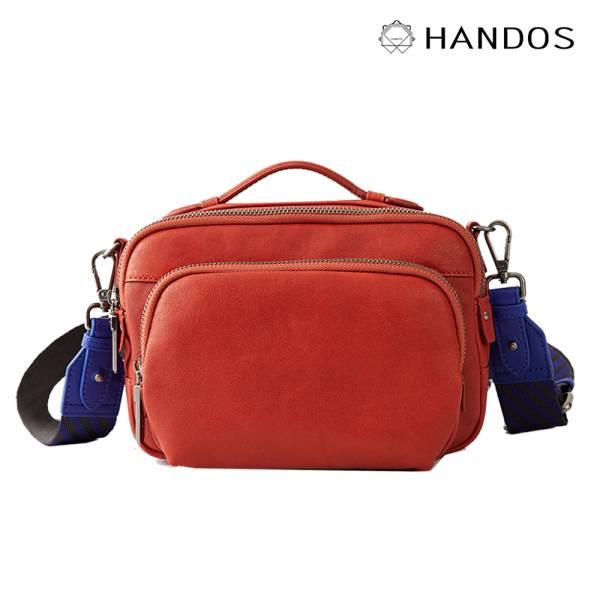 HANDOS|Filter 水洗皮革經典相機包 - 亮橘 真皮,設計師,台灣設計,訂製五金,植鞣皮革