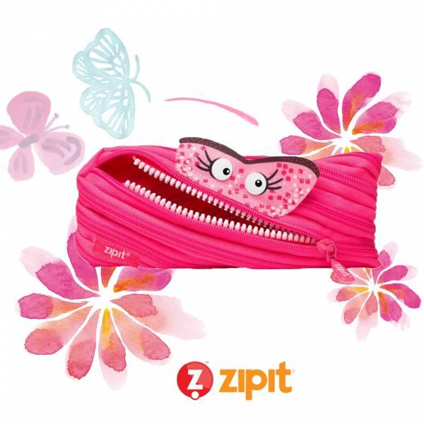 (5折出清)-Zipit Talking 對話怪獸拉鍊包-(中)桃粉 怪獸拉鍊包、筆袋、化妝包、隨身小包