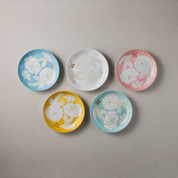 日本美濃燒 - 粉染花朵小盤 - 任選 3件組 (15.3cm) ★ 高質感、安心無毒,日常食器首選