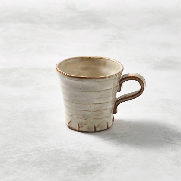 日本KOYO美濃燒- 寬口茶杯 - 摩卡白 ★ 日本進口品質保證,檢驗合格餐具
