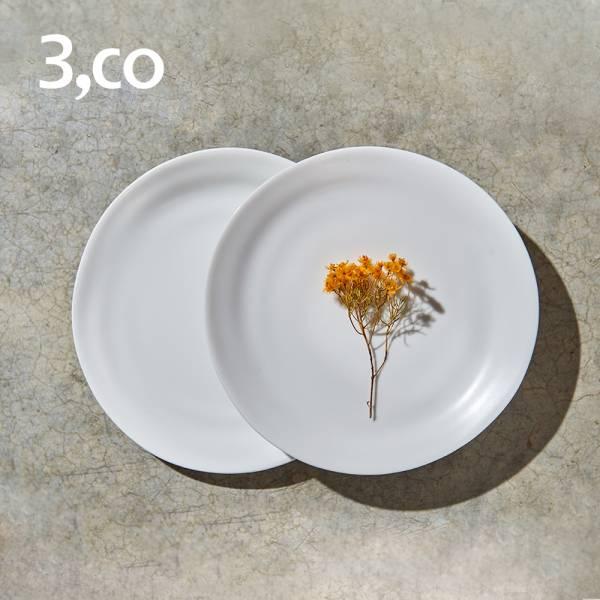 【3,co】水波麵包盤(2件式) - 白+白 碟,盤,水波,餐具,食器,米其林,當代,國際,台灣之光,台灣,原創,設計,簡約,生活美學,空間,瓷器,東方意象,驚豔,精品,禮物,禮品,送禮