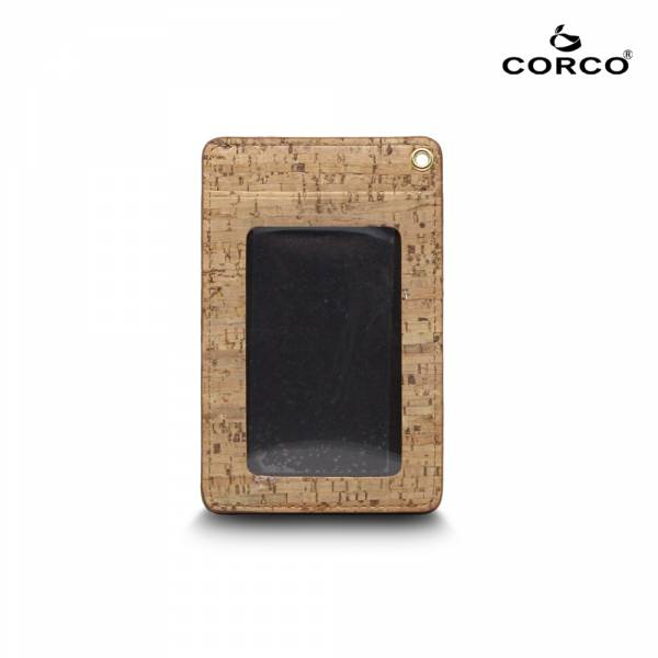 CORCO 直式軟木證件套 - 原棕色 (含掛繩) 軟木,韓國,環保