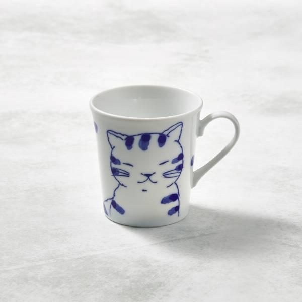 日本澤藍美濃燒 - 虎貓君馬克杯 陶杯,日本製,食器,手工,檢驗合格,貓