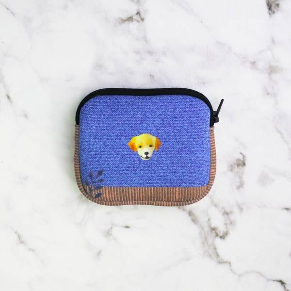 剪刀兔本鋪–潛水布零錢包–自在散步的藍 收納小包、雜物包、可愛童趣