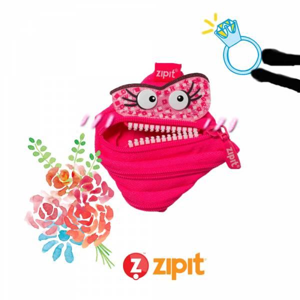 (5折出清)–Zipit Talking 對話怪獸拉鍊包-(小)桃粉 怪獸拉鍊包、零錢包