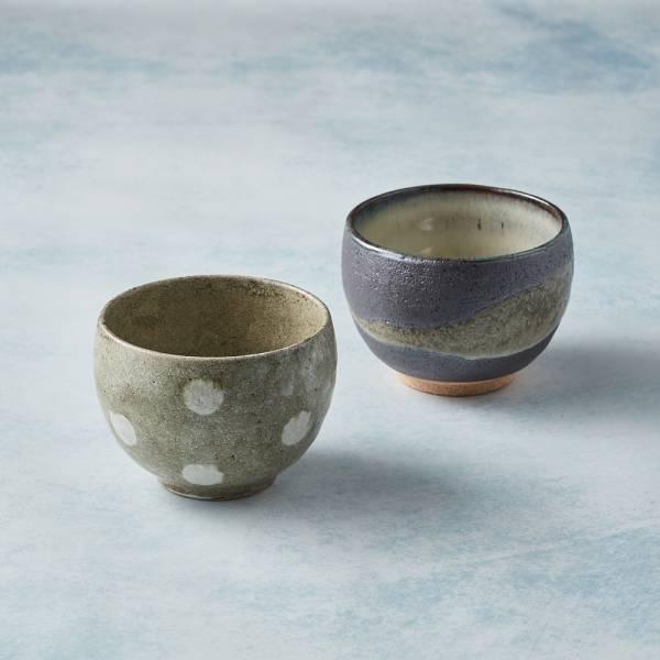 日本KOYO美濃燒 - 手感和風茶杯 - 對杯組(2件式) 陶杯,日本製,食器,手工,檢驗合格