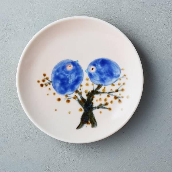 吳仲宗|胖太太系列 - 圓盤 - 幸福青鳥  陶藝;餐盤;平盤;手繪;三芝藝術家