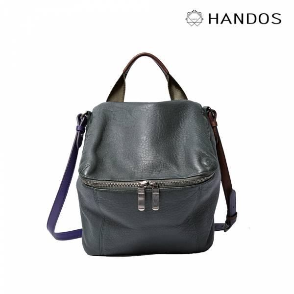 HANDOS|New Pimm's 輕便羊皮休閒肩背包 - 橄欖 真皮,設計師,台灣設計,訂製五金,植鞣皮革
