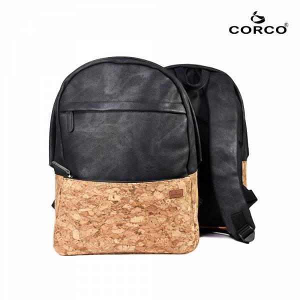 CORCO 軟木雙肩後背包-復古黑 軟木,韓國,環保