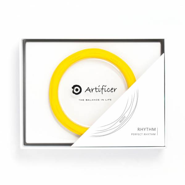 【Artificer】Rhythm 健康運動手環 - 黃 手環,飾品,天然礦物,健康,設計,生物電流,負離子,遠紅外線,安全,專利