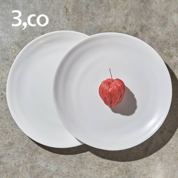 【3,co】水波小菜盤(2件式) - 白+白 碟,盤,水波,餐具,食器,米其林,當代,國際,台灣之光,台灣,原創,設計,簡約,生活美學,空間,瓷器,東方意象,驚豔,精品,禮物,禮品,送禮