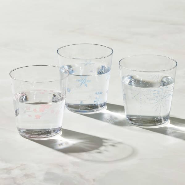 日本富硝子 - 變色寬口水杯 - 三件組 (300ml) 日本,玻璃,玻璃杯,飲料杯,水杯