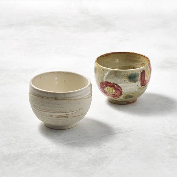 日本KOYO美濃燒- 手感和風茶杯 - 山茶對杯組(2件式) ★ 日本進口品質保證,檢驗合格餐具