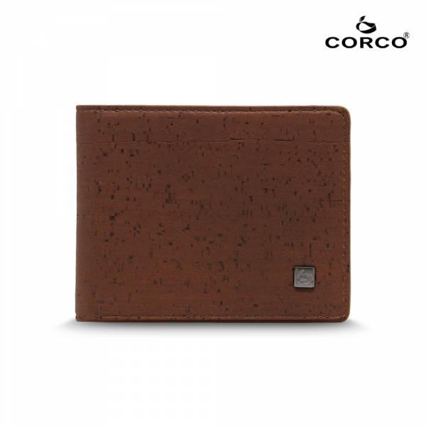 CORCO 經典軟木短夾 - 酷深棕 軟木,韓國,環保