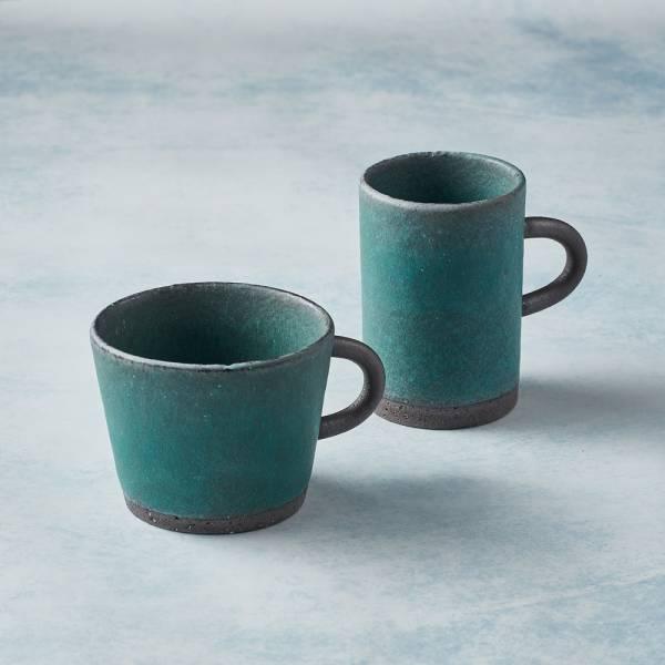 日本KOYO美濃燒 - 圓柄馬克杯 - 對杯組(4選2) 陶杯,日本製,食器,手工,檢驗合格
