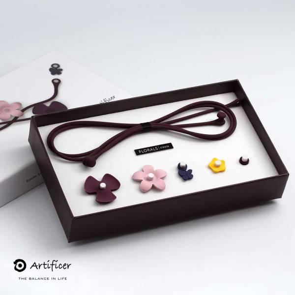 【Artificer】FLORALS 創意飾品(夢幻色系) 花,創意,項鍊,飾品,天然礦物,健康,設計,生物電流,負離子,遠紅外線,安全,專利