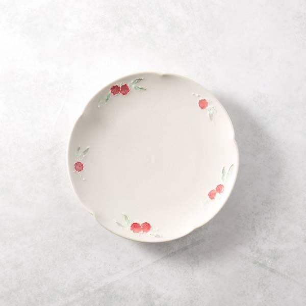 日本設計師系列 - 罌粟花朵淺盤 手繪,手作,職人,日本製,陶器,食器