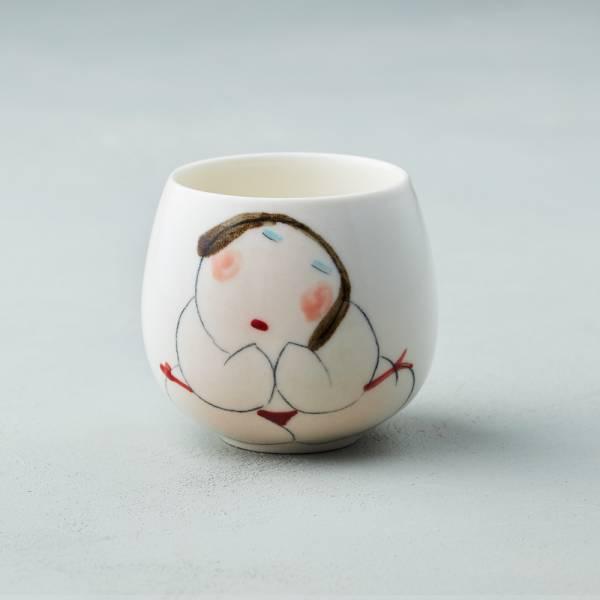 吳仲宗|胖太太系列 - 百合杯 - 紅內褲 陶瓷杯;茶杯;泡茶杯;手繪;三芝藝術家