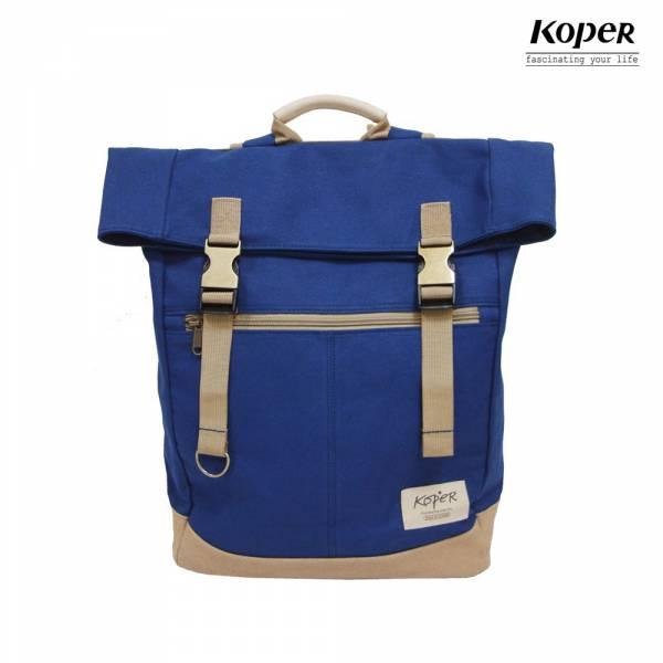 KOPER  不平帆系列-復古雙釦後背包-深海藍 後背包、台灣設計製造