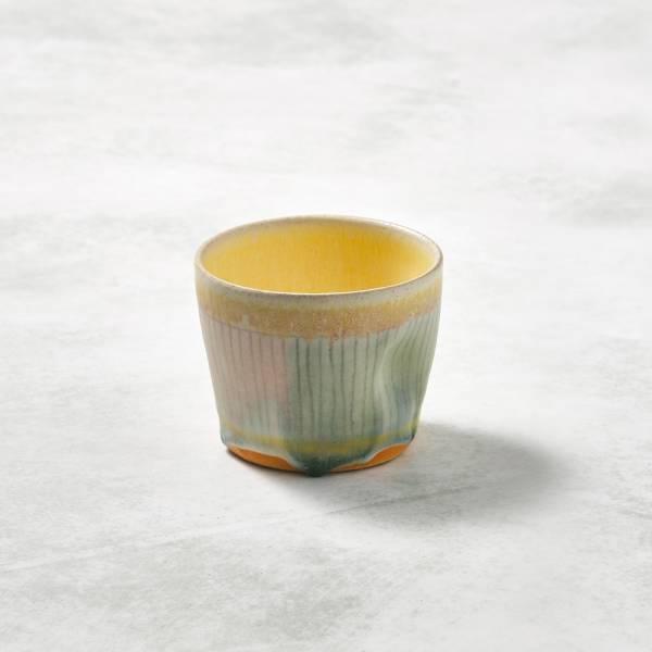 日本設計師系列 - 手握杯 - 豎條紋 手繪,手作,職人,日本製,陶器,食器