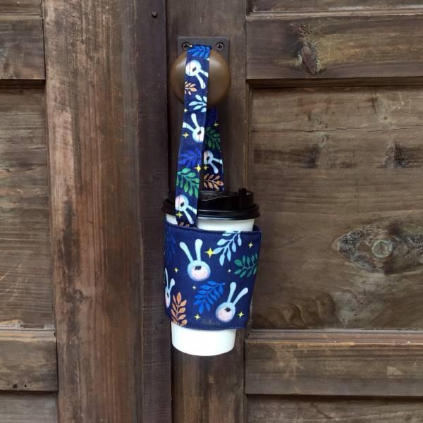 剪刀兔本鋪–飲料提袋–深藍兔子 環保提袋、水壺周邊