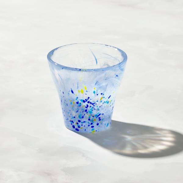 日本富硝子 - 手作浮世自由杯 - 江戶藍 (170ml) 日本,玻璃,玻璃杯,飲料杯