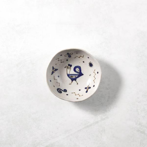 日本設計師系列 - 手捏陶 - 花園裡的公雞小碗 手捏,手作,職人,日本製,陶器,食器