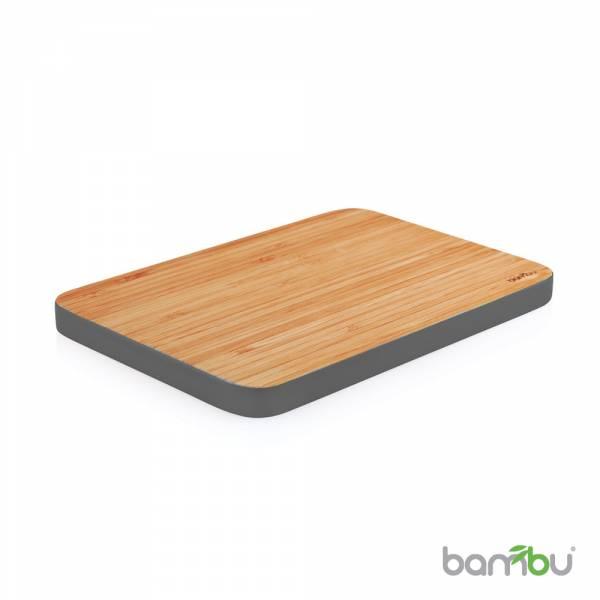 Bambu 美國天然餐具  摩登系列-竹風砧板(中)銀鐵灰 湯匙 、空心湯匙 、鍋鏟