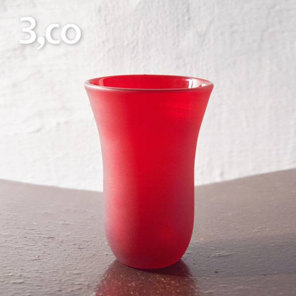 【3,co】手工彩色玻璃杯(大) - 紅 茶杯,酒杯,玻璃杯,杯,擺飾,光雕,玻璃,藝術,品味,花器,當代,國際,台灣之光,台灣,原創,設計,簡約,生活美學,空間,東方意象,驚豔,精品,禮物,禮品,送禮