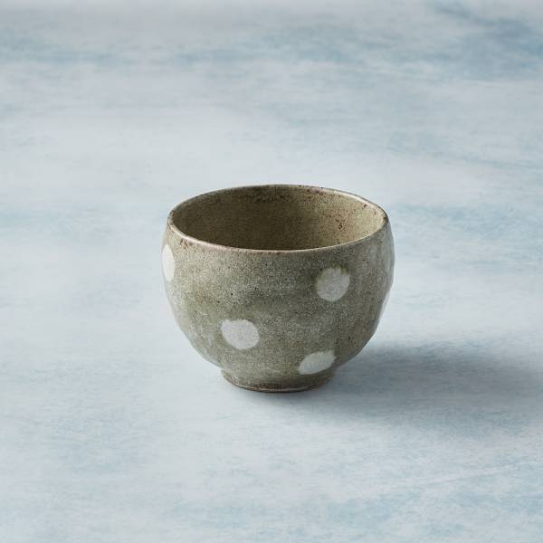 日本KOYO美濃燒 - 手感和風茶杯 - 水玉點點 陶杯,日本製,食器,手工,檢驗合格
