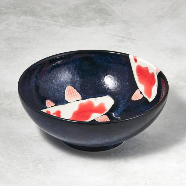 日本AWASAKA美濃燒- 彩鯉釉染大碗 ★ 多用大容量,丼飯湯類都適合