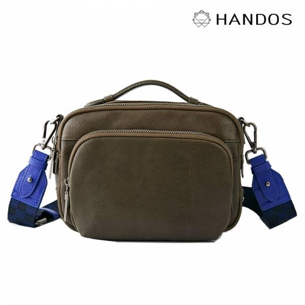 HANDOS|Filter 水洗皮革經典相機包 - 橄欖 真皮,設計師,台灣設計,訂製五金,植鞣皮革