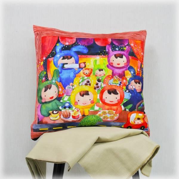 剪刀兔本鋪–抱枕套–有貓的小旅行 枕頭套、寢具、可愛童趣